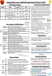 Supporting your child through their History GCSE Supporting
