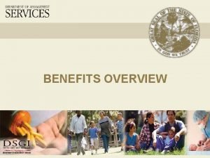 BENEFITS OVERVIEW PreTax Program Offered through the State