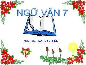 Gio vin NGUYN BNH Bi TC NG V