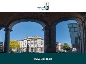ULg www ulg ac be LULg EN UN