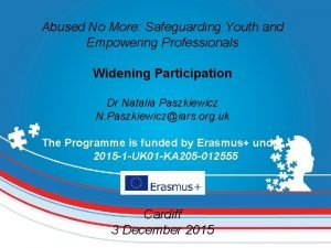Abused No More Safeguarding Youth and Empowering Professionals