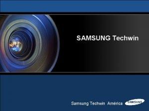 SAMSUNG Techwin Samsung Techwin Amrica SRDXXX DDNS Introduccin