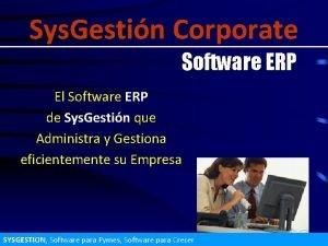 Sys Gestin Corporate Software ERP El Software ERP
