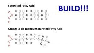 Saturated Fatty Acid BUILD Omega3 cismonounsaturated Fatty Acid