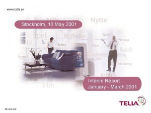 Stockholm 10 May 2001 Interim Report January March