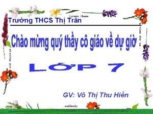 Trng THCS Th Trn GV V Th Thu