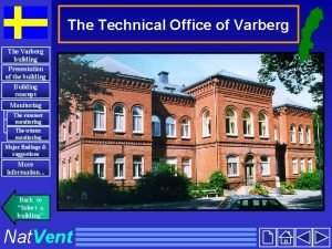 The Technical Office of Varberg The Varberg building
