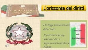 Lorizzonte dei diritti I diritti dei cittadini italiani