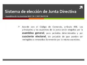 Sistema de eleccin de Junta Directiva Asamblea de