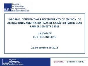 INFORME PRELIMINAR DE GESTIN AL PROCEDIMIENTO DE INFORME