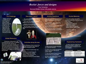 Rocket forces and designs Paul Schember Norwood Middle