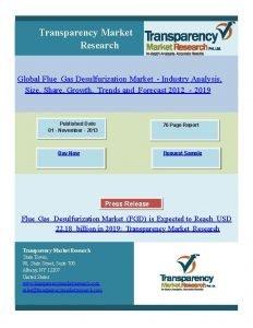 Transparency Market Research Global Flue Gas Desulfurization Market