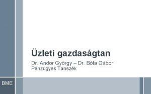 zleti gazdasgtan Dr Andor Gyrgy Dr Bta Gbor