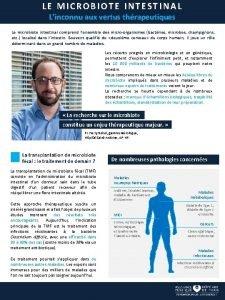 LE MICROBIOTE INTESTINAL Linconnu aux vertus thrapeutiques Le