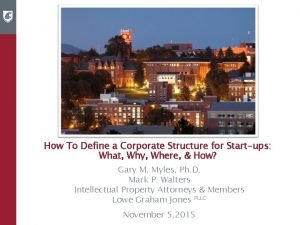 How To Define a Corporate Structure for Startups