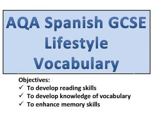 Objectives To develop reading skills To develop knowledge