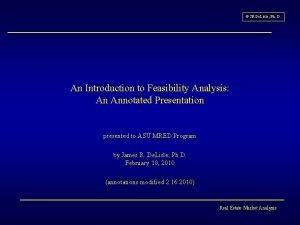 JR De Lisle Ph D An Introduction to