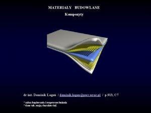 MATERIAY BUDOWLANE Kompozyty dr in Dominik Logo dominik