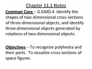 Chapter 11 1 Notes Common Core G GMD