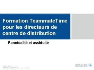 Formation Teammate Time pour les directeurs de centre