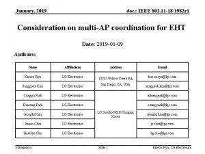 January 2019 doc IEEE 802 11 181982 r