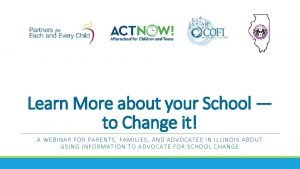 Learn More about your School to Change it