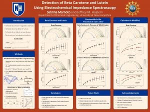 Detection of Beta Carotene and Lutein Using Electrochemical