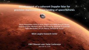 Development of a coherent Doppler lidar for precision