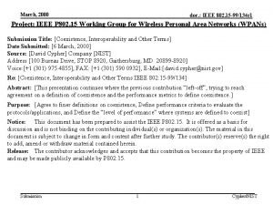 March 2000 doc IEEE 802 15 99134 r