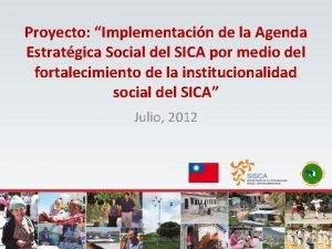 Proyecto Implementacin de la Agenda Estratgica Social del