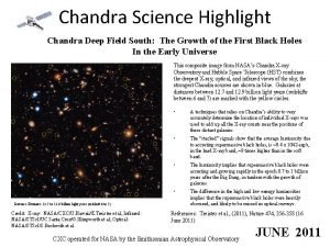 Chandra Science Highlight Chandra Deep Field South The