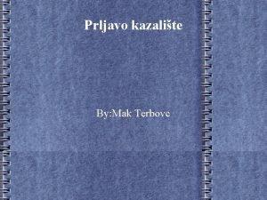 Prljavo kazalite By Mak Terbovc O bendu Bend