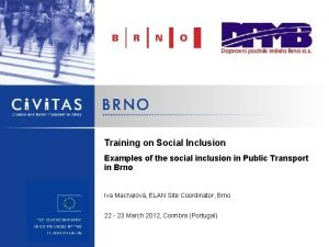 Training on Social Inclusion Examples of the social