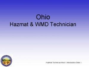 Ohio Hazmat WMD Technician Haz Mat Technician Mod