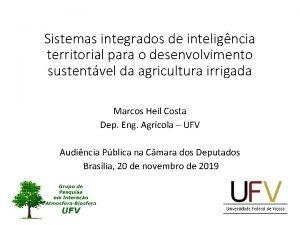 Sistemas integrados de inteligncia territorial para o desenvolvimento