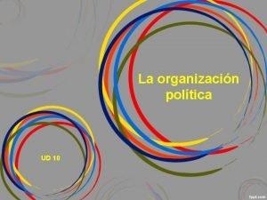 La organizacin poltica UD 10 1 La organizacin