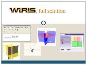 full solution WIRIS full solution for math education