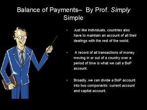 Balance of Payments By Prof Simply Simple Just
