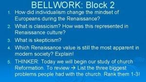 1 2 3 4 5 BELLWORK Block 2