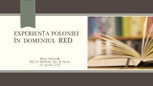 EXPERIENA POLONIEI N DOMENIUL RED Masa Rotund RED