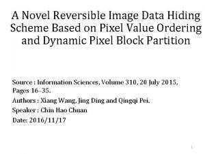A Novel Reversible Image Data Hiding Scheme Based