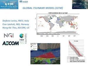 GLOBAL TSUNAMI MODEL GTM Stefano Lorito INGV Italy