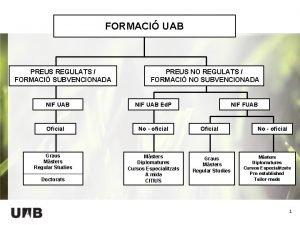 FORMACI UAB PREUS REGULATS FORMACI SUBVENCIONADA NIF UAB