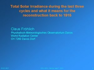 Total Solar Irradiance during the last three cycles