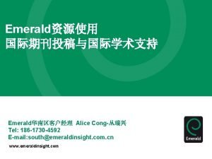 Emerald Emerald Alice Cong Tel 186 1730 4592