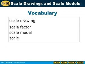 4 10 Scale Drawings and Scale Models Vocabulary