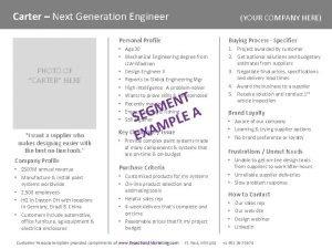 Carter Next Generation Engineer PHOTO OF CARTER HERE