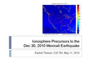 Ionosphere Precursors to the Dec 30 2010 Mexicali