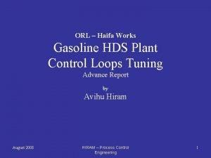 ORL Haifa Works Gasoline HDS Plant Control Loops