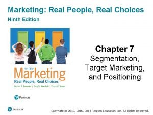 Marketing Real People Real Choices Ninth Edition Chapter